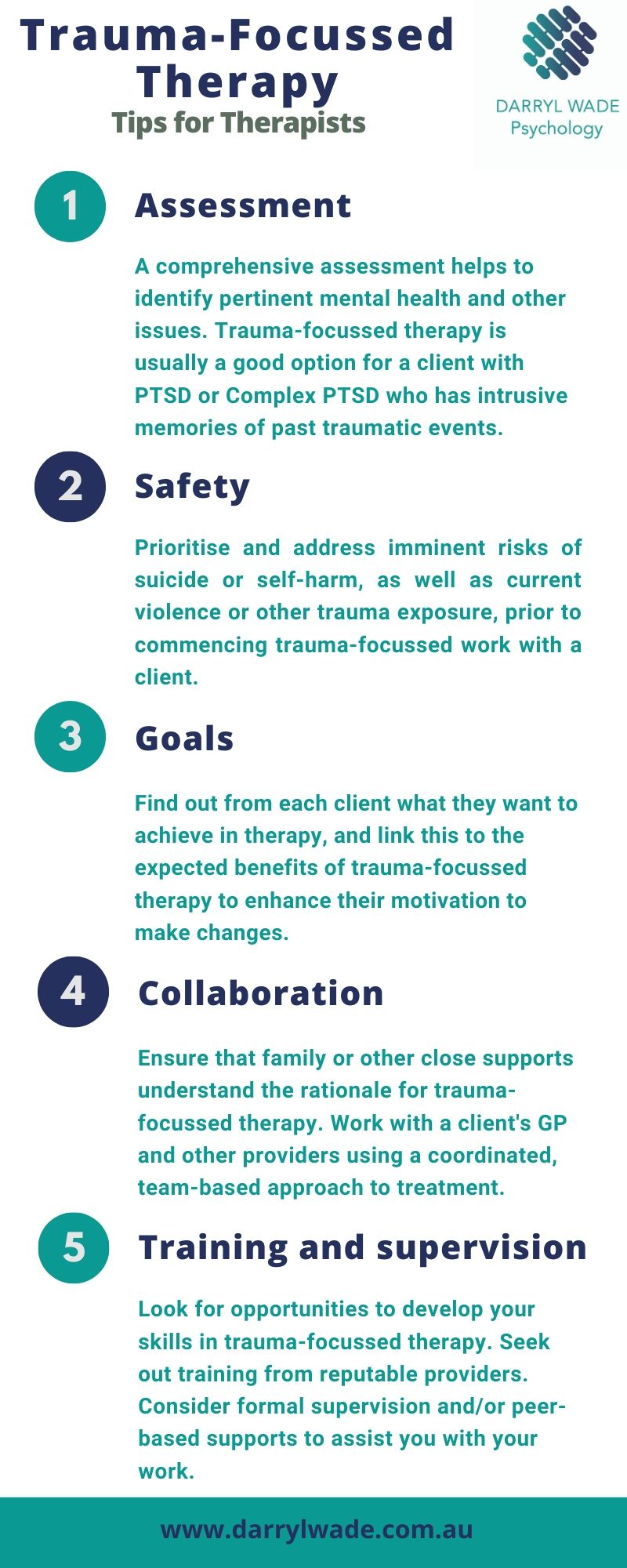 5 Tips for trauma focussed therapy